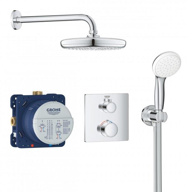 Zdjęcie Zestaw natryskowy podtynkowy termostatyczny GROHE Grohtherm Smart control 34729000