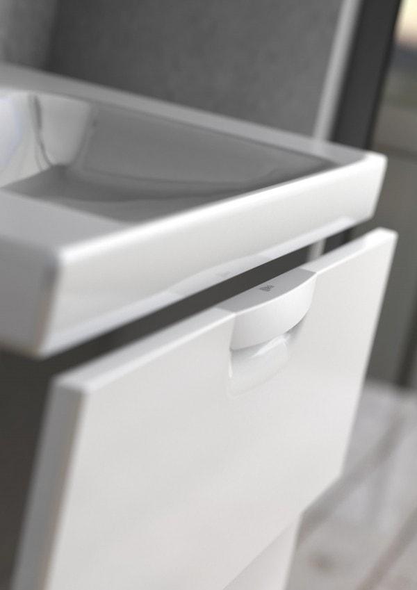 Zdjęcie Szafka podumywalkowa Defra Flou D 80 Biały Połysk 79×51,2×43,4 cm 259-D-08007+umywalka Frame 80 4094