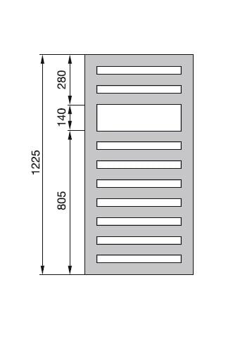 Zdjęcie Grzejnik Zehnder Metropolitan 122,5x50cm White Quartz MEP 120-050/M0521