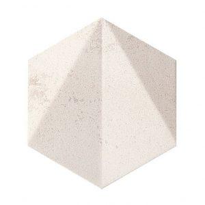 Dekor ścienny Tubądzin Free Space hex white STR 11×12,5 cm