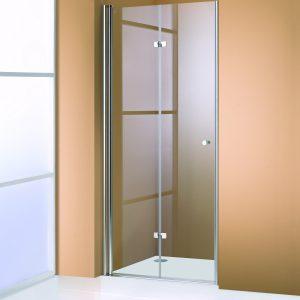 Drzwi prysznicowe skrzydłowe Huppe 501 Design lewe 118x1900 510959.087.322
