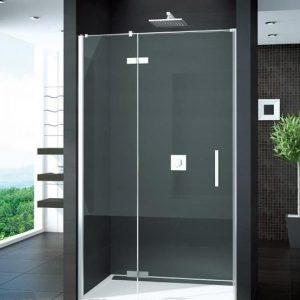 Drzwi prysznicowe Sanswiss Pur 1235/2000 ze ścianką stałą prawe bezprofilowe PU13DSM11007