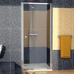 Drzwi jednoczęściowe wahadłowe SanSwiss ECO-line ECOP 90cm połysk ECOP09005007