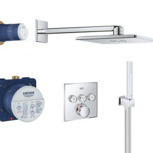 GROHE Grohtherm SmartControl – system natryskowy z podtynkową baterią termostatyczną 34706000
