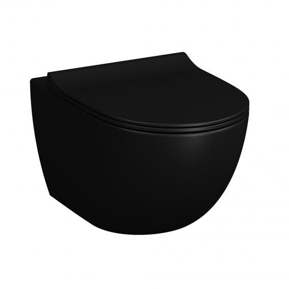 Miska WC wisząca Vitra Sento RIM-EX bezrantowa 37x54cm Black Mat 7748B083-0075