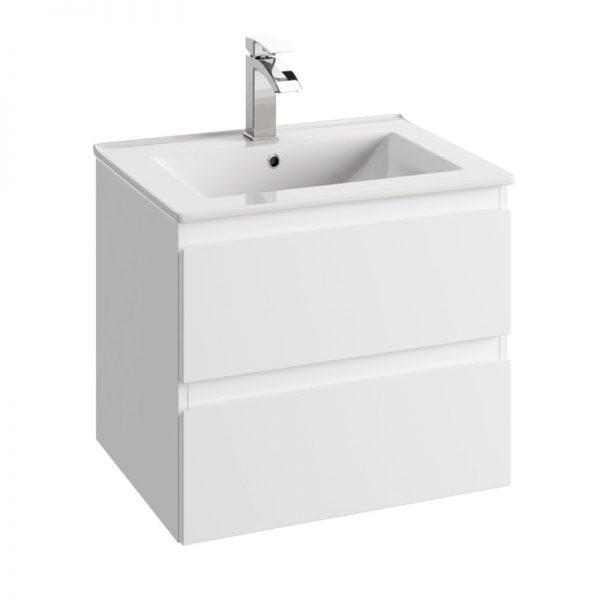 Zdjęcie Szafka Defra Como 80cm + umywalka PLAN 80 cm biała 124-D-08001 + 1724