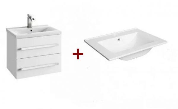 Zdjęcie Szafka podumywalkowa Defra Granada D80 biały połysk 79,9×47,5×39,8cm 167-D-08001+umywalka Plan 80 1724