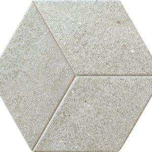 Dekor ścienny Tubądzin Vestige grey STR heksagon 19,8x22,6 cm