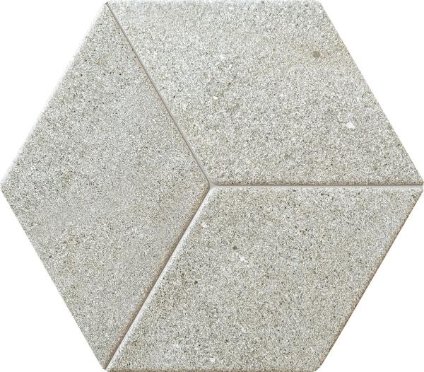 Zdjęcie Dekor ścienny Tubądzin Vestige grey STR heksagon 19,8×22,6 cm