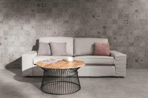 Zdjęcie Płytka podłogowa RAKO Betonico biało – szara dekor 60×60 cm