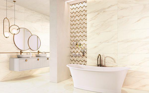 Zdjęcie Płytka podłogowa Paradyż Calacatta sparkle gold mat 59,8 x 119,8 cm
