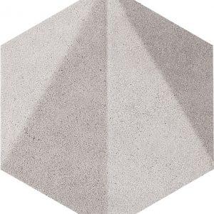 Dekor ścienny Tubądzin Free Space hex grey STR 11×12,5 cm