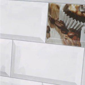 Płytka ścienna Paradyż Tamoe bianco kafel 9,8x19,8 cm