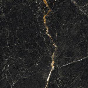 Płytka podłogowa Ceramica Limone Inferno nero poler 59,7x119,7 cm