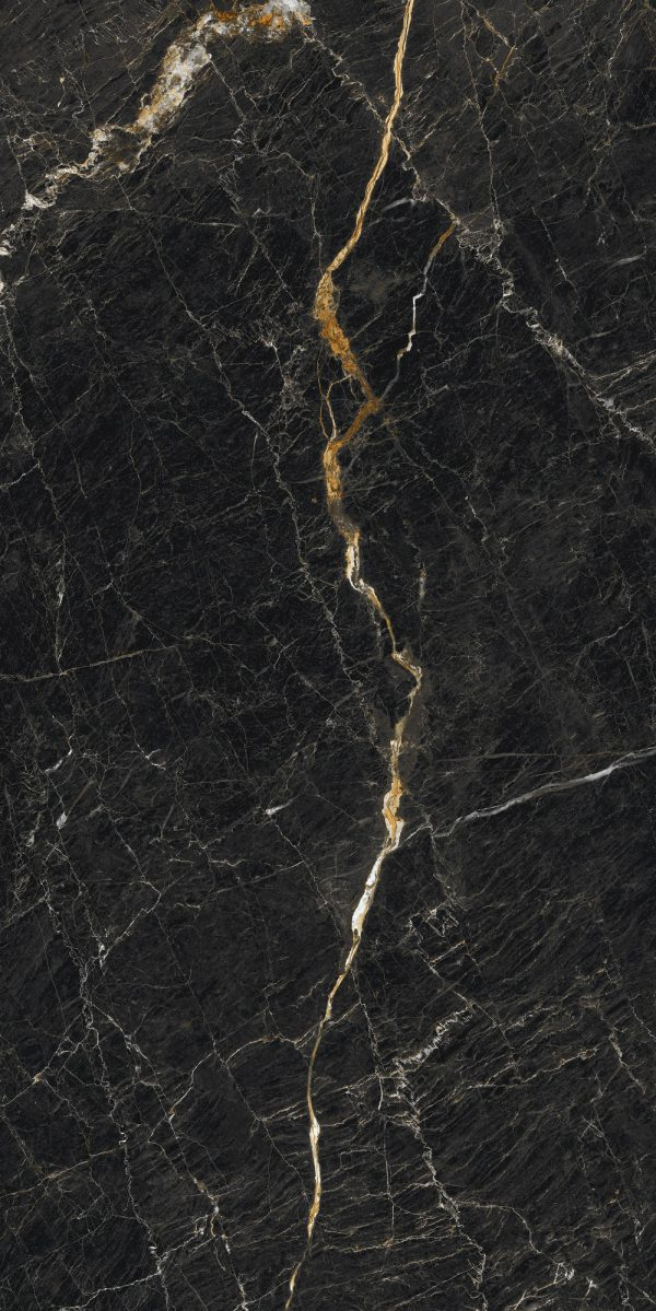Zdjęcie Płytka podłogowa Ceramica Limone Inferno nero poler 59,7×119,7 cm